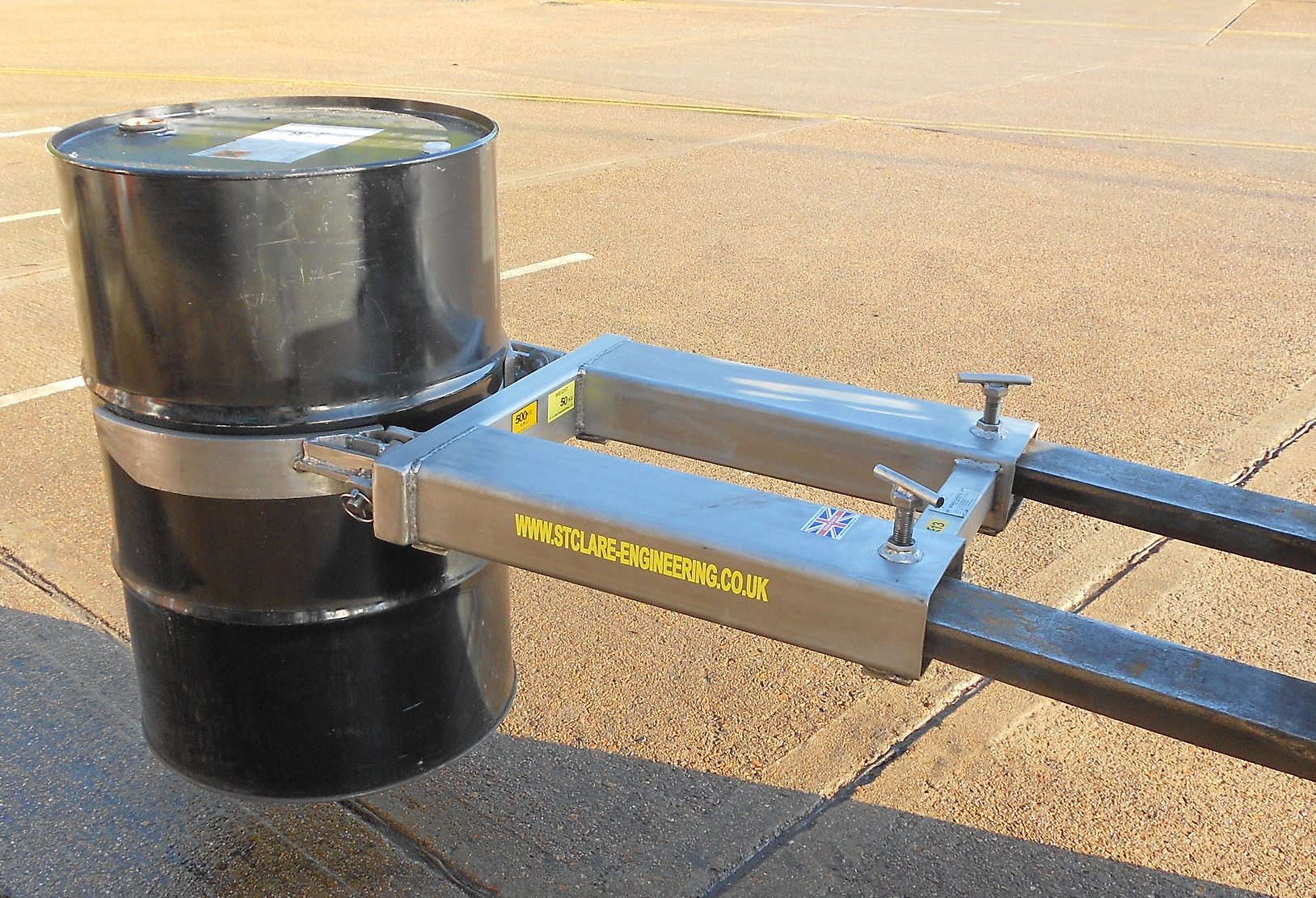 Grab-O-Matic ATEX Stainless Steel Waist Gripper Single Drum Handler